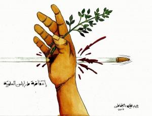 من أعمال التشكيلي الليبي .. عبدالحليم القماطي